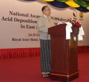 Mr U Thant Sin Maung, Union Minister for Ministry of Transport and Communications, Myanmar